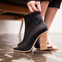 Peep-Toe Chunky Heel Boots from #YesStyle <3 VIVIER YesStyle.com