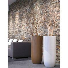 Manzanita branches in tall contemporary pots