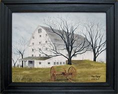 Done Raking is a country inspired print but folk artist Billy Jacobs. His saltbox houses and rustic barns have touched the lives of many primitive decor lovers. Country Barns, Country Primitive, Primitive Crafts, Billy Jacobs Prints, Prim Decor, Country Decor, Rustic Decor, Saltbox Houses, Most Popular Artists