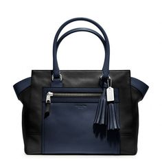 Coach Legacy Colorblock Leather Candace Medium Carryall ($458) ❤ liked on Polyvore