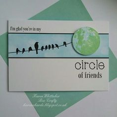 Circle Of Friends by Bee Crafty  #beecraftystamps #circleoffriends #birdsonawire #moon #stamps #stamping #cardmaking #card #creative #craft #ilovetocraft