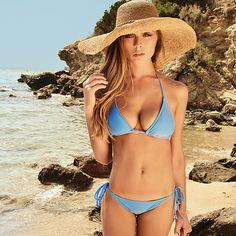 Classic Side Tie Bikini Bottom in Thalassa