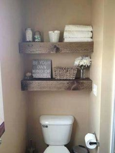 Love these shelves for downstairs loo