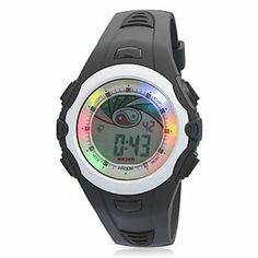 Tanboo Unisex Chronograph PU Digital Automatic Casual Watch by Tanboo. $14.99. Sport Watches, Casual Watches Feature Multi-Functional, Water Resistant, Chronograph, Calendar, Alarm. Men's, Women's Watche. Wrist Watches. Gender:Men's, Women'sMovement:AutomaticDisplay:DigitalStyle:Wrist WatchesType:Sport Watches, Casual WatchesFeature:Multi-Functional, Water Resistant, Chronograph, Calendar, AlarmBand Material:PUBand Color:BlackCase Diameter Approx (cm):4.5Case Thickne...