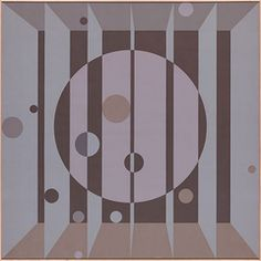 """Edna Andrade, Moongate A, 1966, acrylic on canvas, 60 x 60""""."""