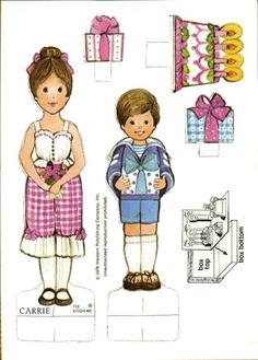 The Gingham Paper Dolls Carrie and Friend (Carrie's Birthday Party)