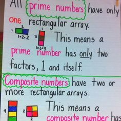 Prime and Composite numbers- we're doing this activity tomorrow!