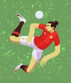 """50 Days of Football"" Series by Mattew Shipley Zlatan Ibrahimovic"