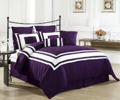 Priscilla Satin 8 Piece Queen Comforter Set NEW in Pack Beautiful Set Polyester