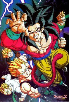 "jinzuhikari: "" DRAGON BALL GT POSTER VINTAGE (1997) by Shueisha group and Toei Animation """