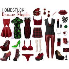 Homestuck Fashion: Damara Megido by khainsaw on Polyvore
