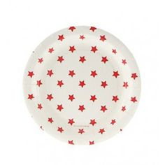 Red Star Paper Plates By Sambellina