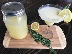 Well Dined | Lemon Curd and Rosemary Martini #ImprovCookingChallenge