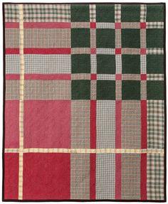 Tartan Series: Cameron quilt, made from up cycled men's plaid shirts by Lori Mason