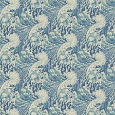 Fabric swatch of a blue velvet fabric with wave design, suitable for curtains and upholstery and with a stain resistant finish Grey Velvet Curtains, Grey Velvet Sofa, Purple Velvet, Ocean Wallpaper, Fabric Wallpaper, Velvet Wallpaper, Print Wallpaper, Linwood Fabrics, Velvet Upholstery Fabric