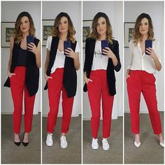 Stylish Summer Outfits, Fall Winter Outfits, Classy Outfits, Pretty Outfits, Casual Outfits, Fashion Outfits, Office Outfits, Outfit Pantalon Rojo, Crop Top Outfits