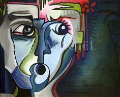 "Maria Maciel ""Night Whisper"" acrylic on canvas. Private collection: San Miguel de Allende Mx."