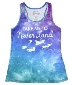 Disney Peter Pan Neverland Galaxy Sublimation Girls Tank Top
