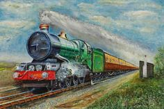 easy train paintings - Google Search