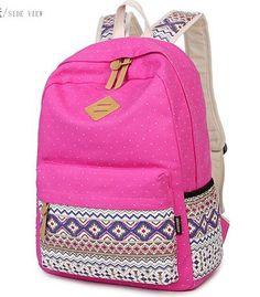 Korean Canvas Printing Backpack Women School Bags for Teenage Girls Cute  Bookbags Vintage Laptop Backpacks Female b169d4578b315