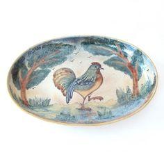 Emilia Ceramics Rooster Serving Dish
