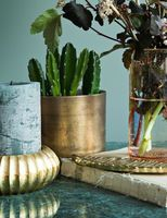 Brass details. We just love our new feather tray