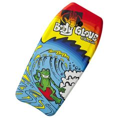 "ody Glove makes awesome bodyboards that sets trends in the sport of bodyboarding. The 37"" Classic Frog board features sweet graphics and eye catching colors and includes a leash so your board won't get away. Perfect board for beginners or intermediate riders"