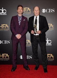 Pin for Later: All' eure Lieblingsstars drängelten sich bei den Hollywood Film Awards Robert Duvall und Robert Downey Jr.