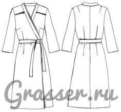Выкройка платья, модель №268, магазин выкроек grasser.ru