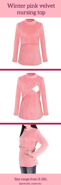 711ddcbef83b6 This awesome and casual maternity top can be worn for breastfeeding in fall  or winter.