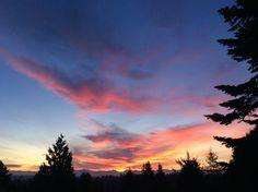 Beautiful Seattle sunrise. #nofilter