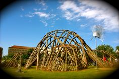 Weidenblume at MOA's Samson Park. Greenwood Village, CO. Living Willow sculpture.