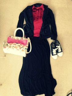 Outfit 1 #modesty #maxiskirt #modestoutfit #betsyjohnson