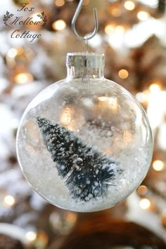 Snowed In: Vintage Bottle Brush Christmas Tree Ornament