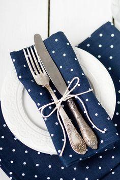Linen napkins set 6 softened napkin cloths by LinenHomeShop