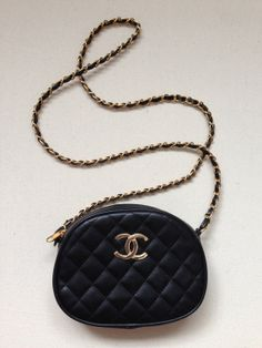 Coco chanel 80s bag 1980s quilted leather hipster cool by xkirstym, $30.00