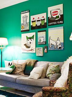 Gallery Wall http://www.wallsloveart.co.uk