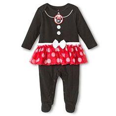 Newborn Girls' Minnie Mouse Coveralls