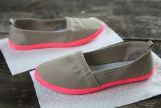 DIY Neon & Nude Shoes - DIY any of your shoes! Look in your closet. it's fun. :) -mf