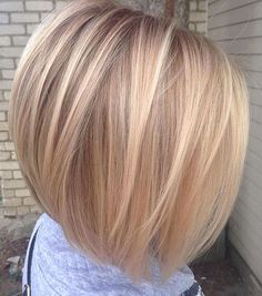 12 Polished Straight Creamy Bronde Bob This beautiful blend of blonde and brown on a straight inverted bob is gorgeous and chic. It wont take much effort in the mornings for you to look put together and ready for a productive day at work. Cute Bob Haircuts, Bob Haircuts For Women, Bob Hairstyles For Fine Hair, Layered Bob Hairstyles, Hairstyles Haircuts, Wedding Hairstyles, Hairstyle Men, Formal Hairstyles, Modern Haircuts