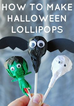 You still have time for this Halloween DIY. Make it more than just the candy, give out awesome candy pops that adds a cute factor to trick or treating! DIY directions here: http://www.ehow.com/ehow-crafts/blog/how-to-make-halloween-lollipops/?utm_source=pinterest&utm_medium=fanpage&utm_content=blog