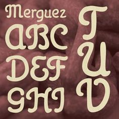 Merguez hand-lettered font from Fontcraft.