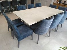 Extendable version of Victoria table in LUNAR Dekton and Graphite frame. Available in other sizes and configurations. FLORIDA dining chairs in Lovely Atlantic and Graphite legs, TANIA dining chairs in Lovely Atlantic and Graphite legs. Delivered to our client in Essex. Contemporary Furniture, Contemporary Design, Dining Chairs, Dining Table, Leather Bed, Sofa Design, Modern Bedroom, Graphite, Sideboard
