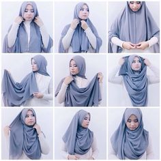 Modest Chest Coverage Hijab Tutorial | My Hijab                                                                                                                                                                                 More