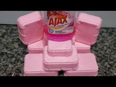 Sabao multiuso de ajax - YouTube Diy And Crafts, Soap, Cleaning, Organization, Sprays, Youtube, Homemade Laundry Soap, Homemade Washing Detergent, Homemade Cleaning Products