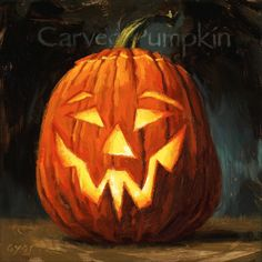 Amberton Publishing 'Carved Pumpkin' Art