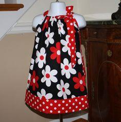 Pillowcase dress Michael Miller lil plain jane by BlakeandBailey, $19.99