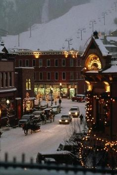 Carriages in the snow, Leavenworth, Washington, USA.