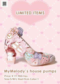 Super cute #MyMelody X RANDA stilettos (((o(*゚▽゚*)o)))