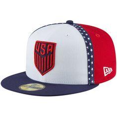 adddcf6381b Men s USMNT New Era White Team Taped Liberty Flex Hat